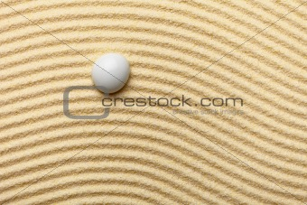 Abstract composition -  sandy wavy background and glass drop