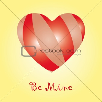 """Be mine"" card"