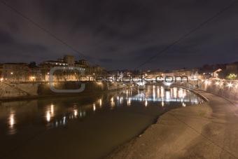 Tiber river near Castel Sant'angelo - Rome