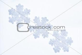 Three glass snowflakes