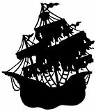 Mysterious ship silhouette