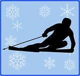 winter game button alpine skiing