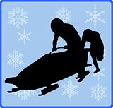 winter game button Bobsleigh