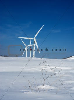 Snow and wind turbines