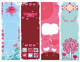 Set of Valentine&#39;s day grunge banners