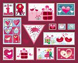 Festive  Valentine&#39;s Stamps