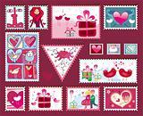 Festive  Valentine's Stamps