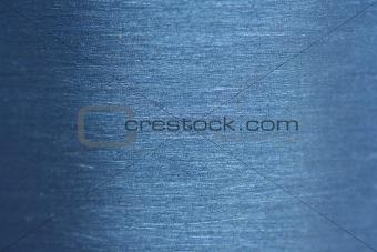 Blue aluminum macro background
