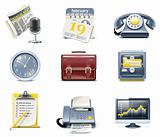Vector business and office icons. Part 1