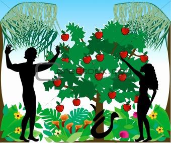 Adam & Eve Silhouettes