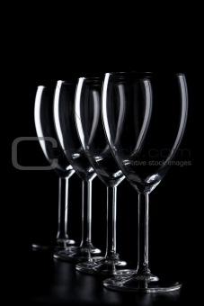 A row of elegant glasses