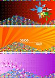 Set of bright abstract banners