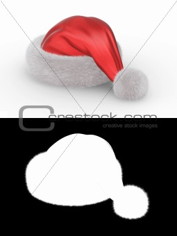Santa's hat series (isolated hat with alpha channel for fur element)