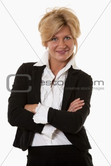 Attractive thirties caucasian confident businesswoman