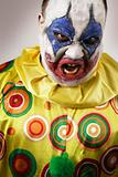 Angry evil clown