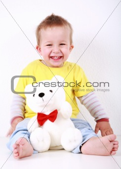 Smiling toddler