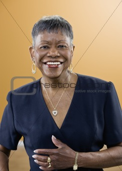 Older African American Woman Smiling