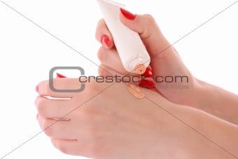 Skin toner over white