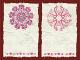 The Valentine's day grunge backgrounds