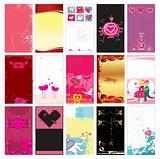 Valentin`s day cards templates