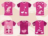 Valentine`s day t-shirts design.