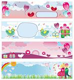Set of Valentine's day banners 4