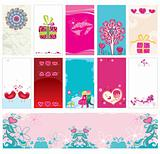 Valentine`s day cards and banner templates