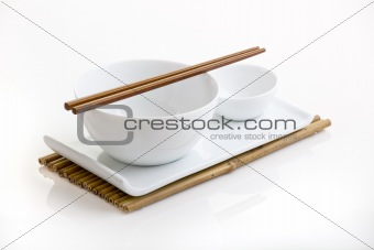 Asian dish plate