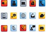 communication icon button set