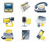 Vector communication icon set. Media