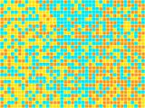 Orange, Yellow and Blue Mosaic. Vector Image
