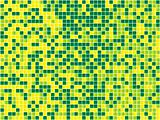 Yellow and Green Seamless Mosaic. Vector Image