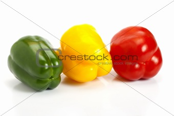Three colours on pepper