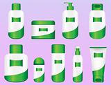 Set of 9 Bio Cosmetic Bottles