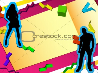 3D Paper Cut Party Background