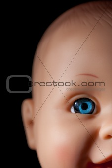 close up of doll´s eye
