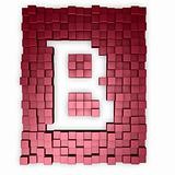red cubes makes the letter b