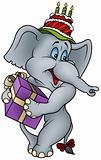 Elephant and Gift