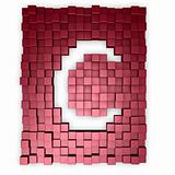 red cubes makes the letter c