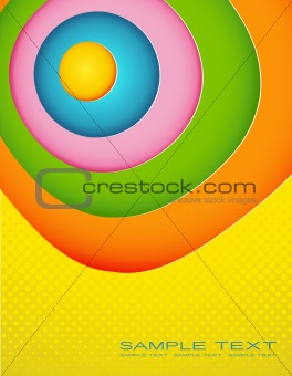Abstract colored illustration with place for your text.