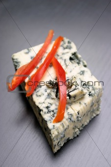 Blue cheese and red pepper