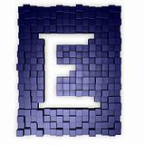 cubes makes the letter e