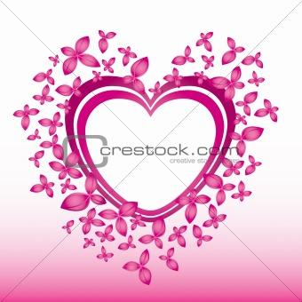 valentine pink love illustration