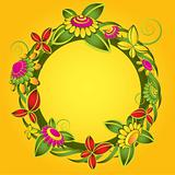 flower decorative circle illustration