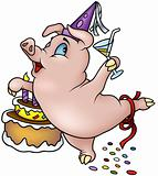 Dancing Pig - Happy Birthday