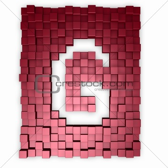 cubes makes the letter g