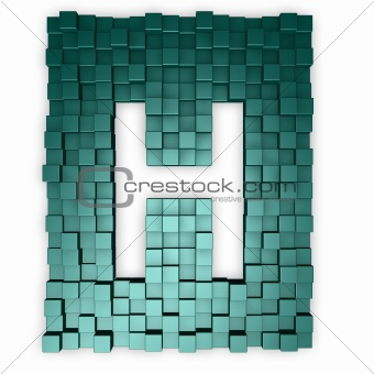 cubes makes the letter h