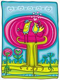 Valentine's day magic garden card