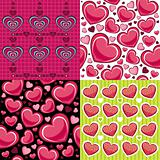 Valentine's day seamless backgrounds set