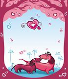 Dachshunds love - Valentine